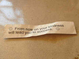fortune cookie kindness