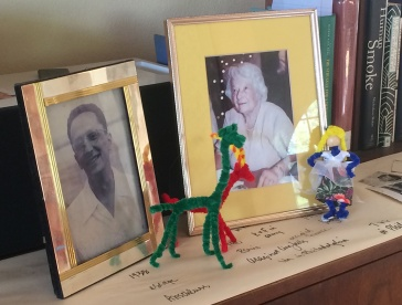 Fritz, Trudy and three pipe cleaner friends