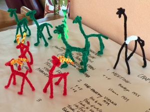 herd of pipe cleaner animals