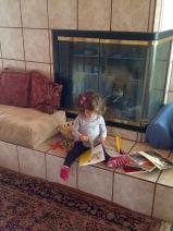 Eva reading