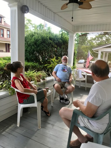 One of many great conversations on the porch