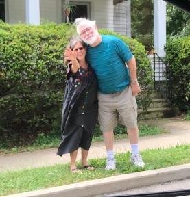 Wendy and John say goodbye